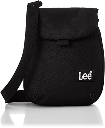 [リー] ショルダーバッグ 軽量 Leeボックスロゴ刺繍 チョークバッグ ブラック