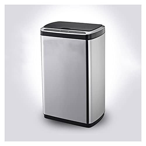 Cubos de basura para la cocina Bote de basura inteligente con tapa de acero inoxidable La basura de la inyección de la inyección de la fabricación de la bote de basura de la cocina de gran capacidad,