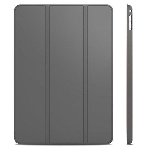 JETech Hülle für iPad Air 2, Schutzhülle mit Ständer Funktion und Auto Schlaf/Wachen, Dunkel Grau