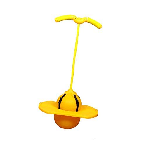 Pelota de rebote ? Jumping Hop-per Ball impresa, pelota de rebote, pelota de saltar, pelota de saltar, pelota de saltar, pelota de H-opper para interior y exterior (Amarillo)