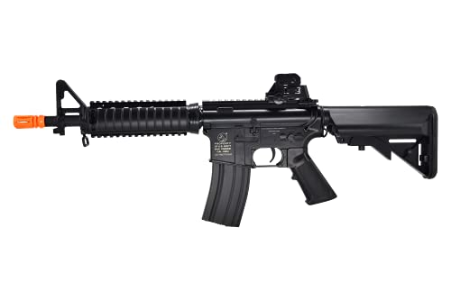 Soft Air Colt M4A1 CQBR Electric Powered Airsoft Gun with Adjustable Hop-Up, 453 FPS, Black, M4 M16 Armalite Rifle 15 Style (180833)