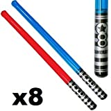 Universal Affect - 28' Inflatable Light Saber Toys, Red & Blue (Pack of 8)