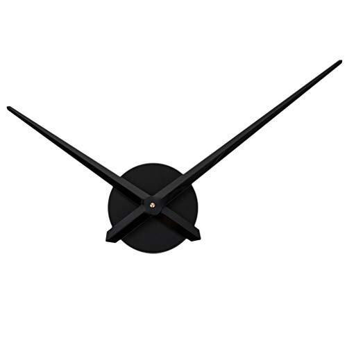 BESPORTBLE Reloj de pared DIY 3D, grandes manecillas de reloj de pared, para construir, reloj de cuarzo de metal, creativo y sencillo, gran decoración para el hogar, restaurante, hotel, etc. (negro)