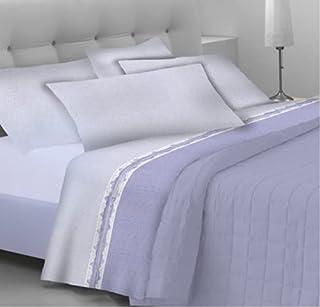 GoldenHome EmmaParure complète pour lit 2 placescomposé d'un drap-housse à bonnets, d'un drap de dessus et de 2 taies d'o...