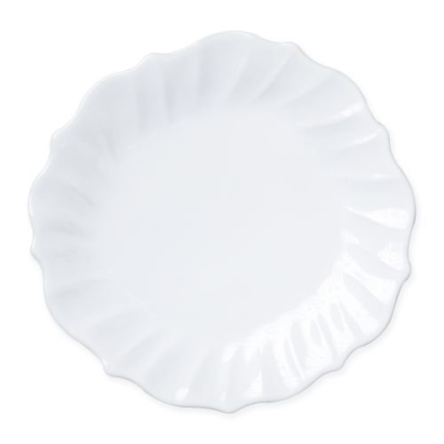 Vietri Incanto Stone White Ruffle Dinner Plate