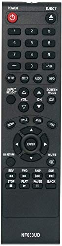 New NF033UD Replaced Remote Applicable for Sylvania Emerson TV DVD Player LD190SS1 LD190SS2 LD195SSX LD320SS1 LD320SS2 LD320SSX LD370SSX LD190EM1 LD190EM2 LD260EM2 LD320EM2 A9DF1UH