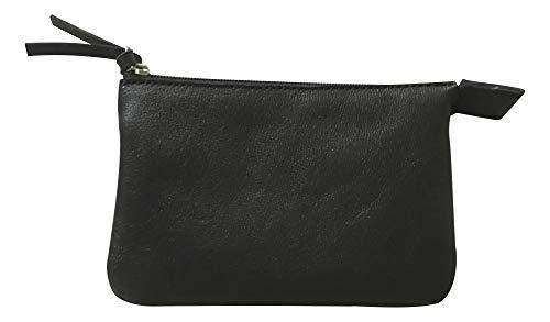 Clairefontaine 410003C Kleine Mappe (aus Leder mit 2 Fächern, 13x9 cm) 1 Stück schwarz