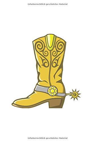 Line Dance Tanzen Notizbuch: Cowboy Stiefel Country Line Dance als Geschenkidee als Planer Tagebuch Notizheft oder Notizblock 6x9 DIN A5 120 Seiten   Liniert