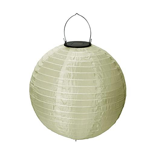 Lámpara solar para exteriores, lámpara colgante de nailon impermeable (champán)
