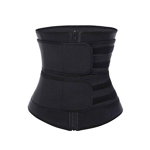 FeelinGirl Latex Sauna Suit - Sauna Tank Top Vest with Adjustable Shaper Trainer Belt 3X-Large