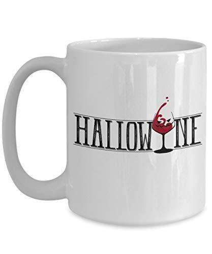 Taza t cermica uso prolongado Copa de vino de Halloween de Halloween El mejor disfraz de truco o trato de Halloween Amante del vino Taza bebida caf Regalo