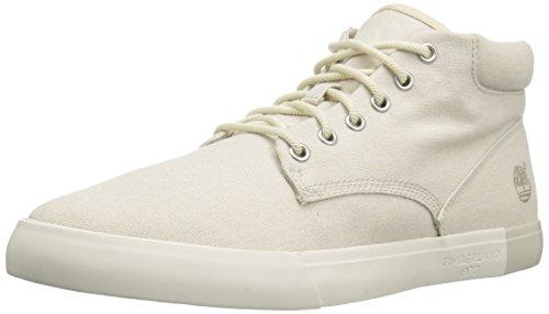 Timberland Herren Newportbay 2.0 Canvas Chukka Fashion Sneaker, Elfenbein (Leinwand, Motiv Rainy Day), 44 EU