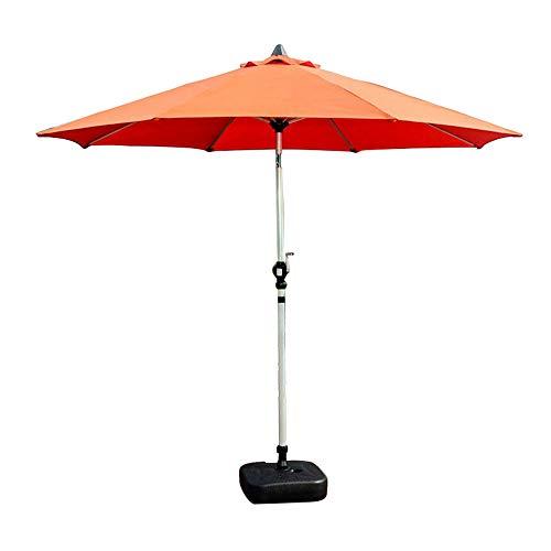 Outdoor umbrella Außen Patioregenschirme/Garten Regenschirm/für Villen, Strand, Garten/mit Knopfverstellung und Kurbel/ohne Sockel (4 Farben)