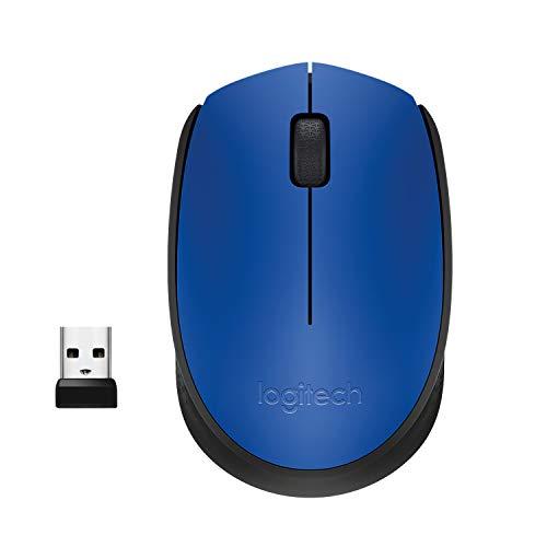 Logitech M171 Mouse Wireless, 2.4 GHz con Mini Ricevitore USB, Rilevamento Ottico, Durata Batteria 12 Mesi, Mouse Ambidestro per PC/Mac/Laptop, Blu