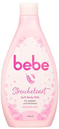 bebe Soft Body Milk - Sanft pflegende Bodymilk mit Jojobaöl und Panthenol für trockene Haut - 6 x 400ml