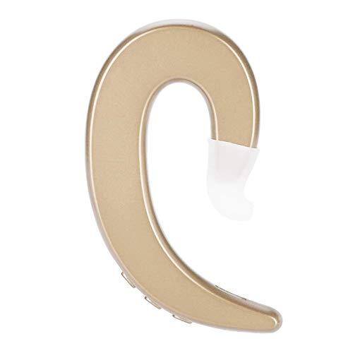 Auriculares portátiles sin Dolor, Auriculares con Gancho para la Oreja antisudor, montañismo de 2,4 GHz para Conducir, Montar, Trabajar(Golden)