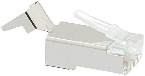 Platinum Tools 106192C RJ45 Cat6A 10 Gig Shielded Connector with Liner, 50-Pack