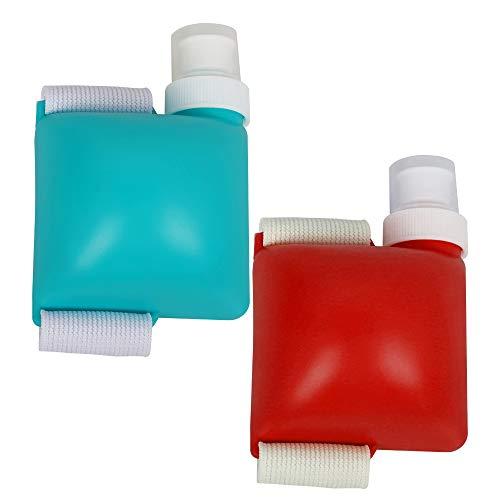 Speyang Ajustable Botella de Agua de Muñeca Manos Libres, Botella de Agua Deportiva Plastico, Botella de Agua a Prueba de Fugas, Resistencia al Rayado y Fácil de Limpiar, para Deportes (2 Piez