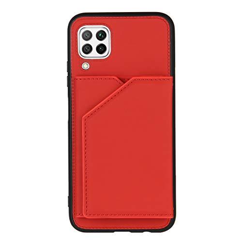 Schutzhülle für Huawei P40 Lite/Nova 6 SE, Kreditkartenfächer, Rot