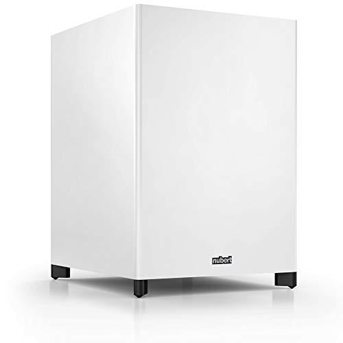 Nubert nuSub XW-1200 Wireless Subwoofer Weiß | Lautsprecher für Bass & Effekte | Downfiresubwoofer mit Aktiv-Technik | Surround & Action auf höchstem Niveau | LFE-Box mit 420 Watt | Tiefgang: 19 Hz