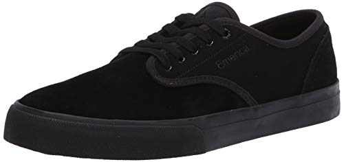 Emerica Men's Wino Standard Skate Shoe, Black/Black, 9.5 Medium US