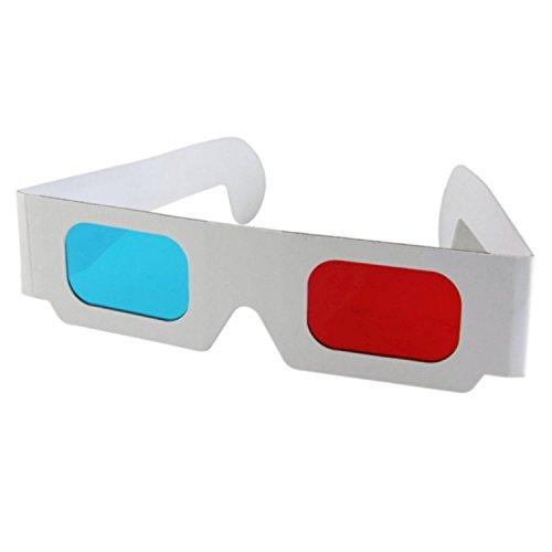 GAFAS 3D Roja-Azul ESPECIAL PELICULA 3D,EL CINE EN CASA