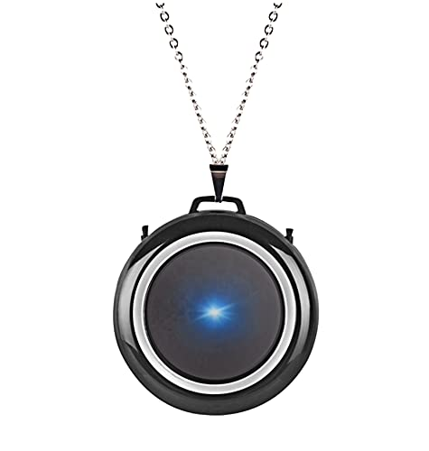 Vonaan Black Purify Air Purifier Necklace   Wearable Electronic Air Pendant USB Mini Air Cleaner...