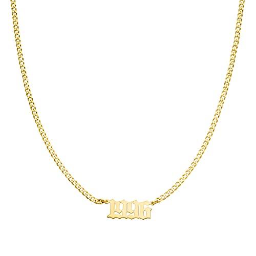 Namenskette Halskette I Datumkette I Kette mit Namen aus hochwertigem Edelstahl Gold&Silber I Personalisiere deinen eigenen Schmuck Damen I Kette mit Wunschnamen