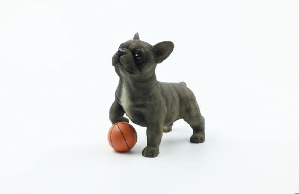Outdoor Sculpture French Bulldog Model Gorgeous New sales Small Kicking Ball Method