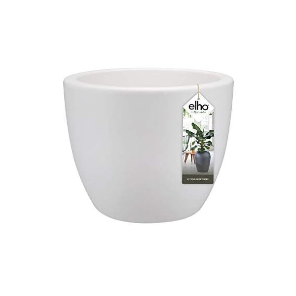 Elho Pure Soft Round Macetero Redondo con Ruedas, White, 50 cm