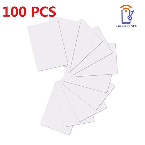 NFC Tags NTAG215 NFC Cards NXP Original Chip Blank PVC ISO NFC Card NTAG 215 NFC Tag 504 Bytes Memory by TimesKey Compatible with Amiibo and TagMo,100 Packs