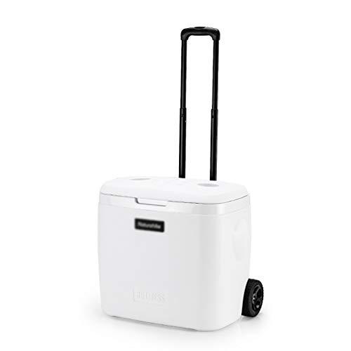 YANN Mini congelador portátil, refrigerador eléctrico y más cálido, con Tapa de Tapa y Funcionamiento de Bloqueo de Interruptor de Mango, Caja de Picnic al Aire Libre con Hielo Caja de Almacenamiento