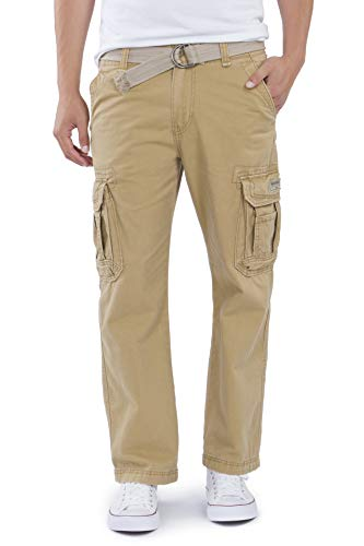 Unionbay Men's Survivor Iv Relaxed Fit Cargo Pant - Reg and Big and Tall Sizes, rye, 42x32