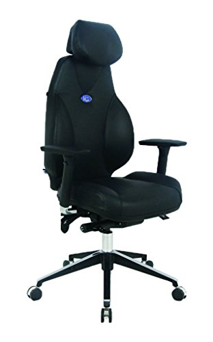 Hot Sale VIVA OFFICE® Hottest High Back Ergonomic Multi-function Luxury Leather Office Chair, Fully Adjustable Executive Office Chair with Top Leather Seat and Back, Adjustable Italy DONATI Armrests and Italy Synchronous Mechanism, and Aluminum Base - VIVA2000(Free pillow and blanket 2 in 1 set Included)