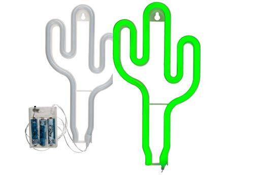 Toyland Green Cactus LED Neon Light - Sospensione a parete - Luci decorative - Accessori per la casa
