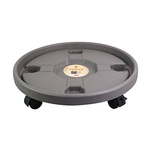 Maceta soporte sobre rodillos, plástico redondo maceta suelo desmontable Maceta soporte inferior con la rueda universal para el interior como en el exterior, 23/27/30/32 / 36cm