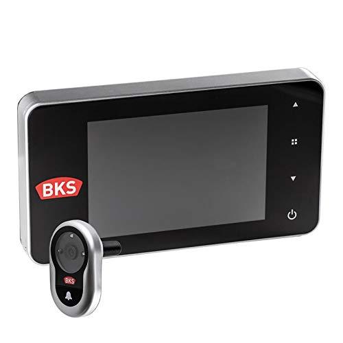 BKS Digitaler Türspion DS-40 mit 4,0 Zoll TFT-Display incl. Klingel, Nachtsichtfunktion und Aufnahmefunktion