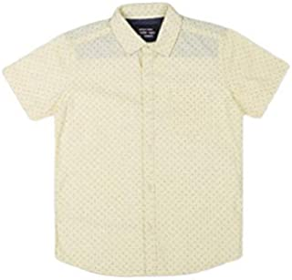 DJ & C By Fbb Micro Print Casual Shirt Yellow