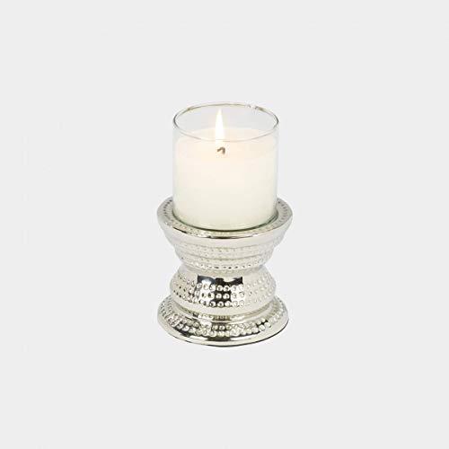 Makani Windlicht Nickel/Glas Mini