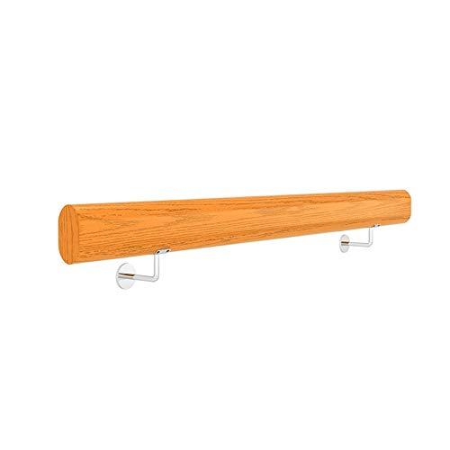 Handrails Taircase Handlauf Mit Edelstahl Halterungen  Holztreppen Geländer For Innen Außen Kindergarten Krankenhaus Loft Korridor  Geländer Banister Rail Support Kit AA+ ( Size : 80cm )