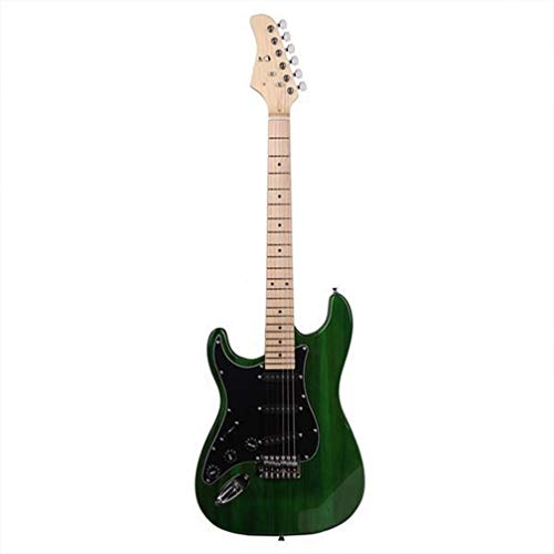 Electric guitar Black Green Shield Left Hand Electric Guitar Bag Strap Picks Shake Cable Wrench Tool bass guitar
