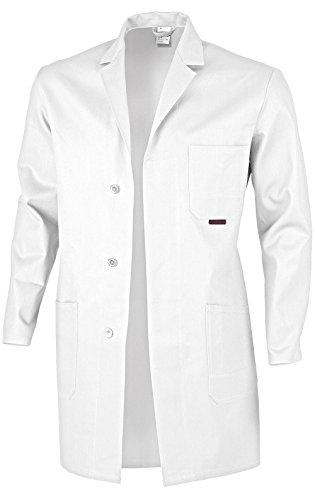 Berufsmantel Arbeitskittel Blaumann 100 % Baumwolle - mehrere Farben - 46,Weiß