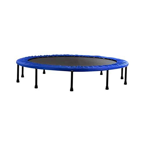 Sdesign Fitness Trampoline con función Plegable Opcional 40 Pulgadas  Cuerdas de Bungee Suave y agridulce Tranquila y Conjunta Ajustable Fitness Trampoline/Interior Trampoline (Color : Blue)