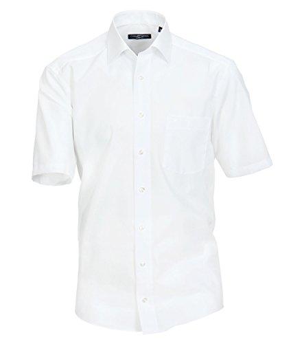 Michaelax-Fashion-Trade - Chemise Business - Uni - Col Chemise Classique - Manches Courtes - Homme - Blanc - 40