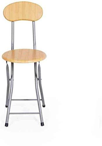 CHU N1 Klappstuhl, Neue Qualität Holz Farbe Runde Hocker Frühstück Lehner 106 (Size : Backrest Chair)