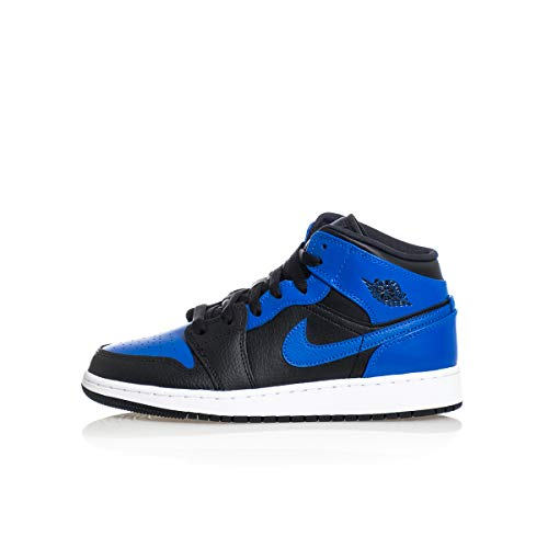 Jordan Big Kid's 1 Mid Hyper Royal Black/Hyper Royal-White (554725 077) - 6.5