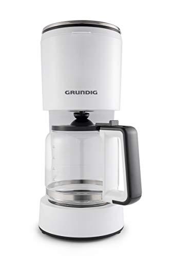 Grundig KM 5860 ekspres do kawy, 1000 W, funkcja aromatu, 10 filiżanek (1,25 l), 1000, biały/czarny