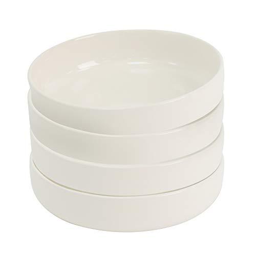 ProCook Stockholm Steinzeug - Tiefer Teller - 4-teilig - Steingut - elfenbeinfarben - Suppenteller - Tafelservice - skandinavisches Design