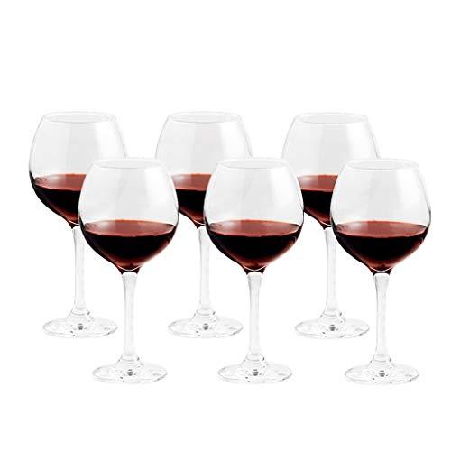 ZHIHUI Conjunto de Copas de Vino Tinto de 6 Copas de Vino Despejado Fiesta de Beber Vidrieras Lavaplatos Safe 520ml /17.5oz (Color : Clear3)