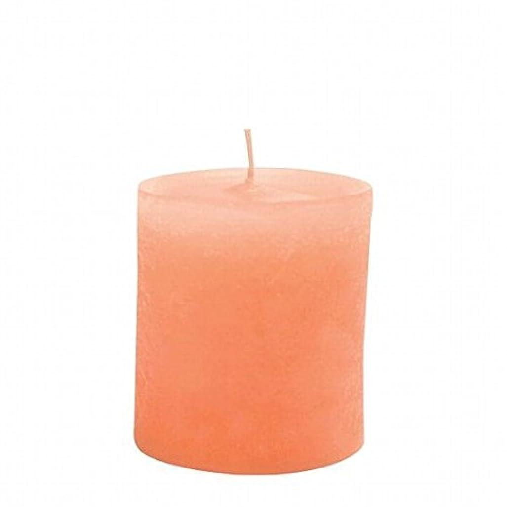 ペチュランスコンパス鳥kameyama candle(カメヤマキャンドル) ラスティクピラー70×75 「 オレンジ 」(A4930010OR)